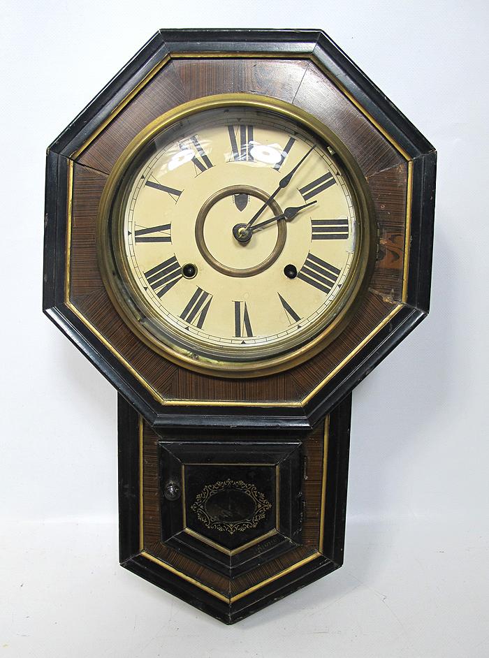 Antique 1900 S Octagonal Regulator Wall Clock Seikosha